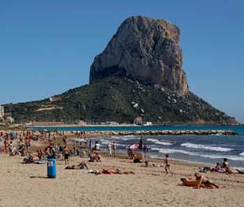 Playa del bol calp calpe map for Hoteles en calpe playa