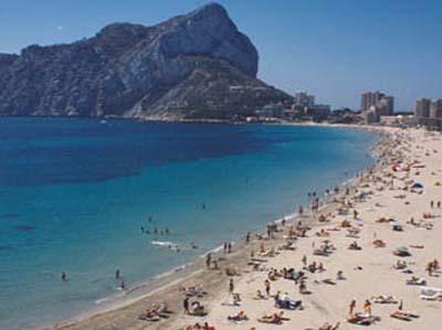 Playa levante o playa la fossa for Hoteles en calpe playa